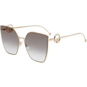 F is Fendi 63mm oversized sunglasses